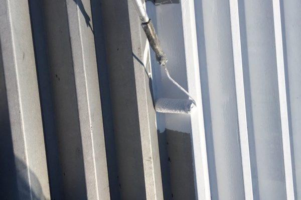 笠間市工場   折半屋根遮熱塗装工事ありがとうございました。