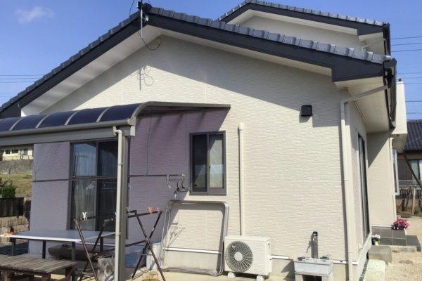 常陸太田市T様邸 外壁ラジカルシリコン塗装、破風板、玄関ドア、フッ素塗装、シーリング打ち替え工事、ありがとうございました。