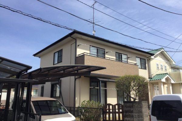 日立市E様邸 ラジカルシリコン塗装 ベランダクリヤー塗装 シーリング打ち替え工事 コロニアル屋根 ラジカルシリコン塗装 ありがとうございました。